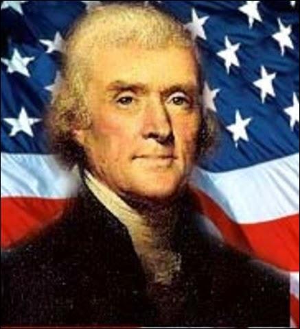 Quel président américain, qui a conduit plusieurs expéditions de fouille dans l'ouest des États-Unis au début du XIXème siècle, est connu avant tout pour être l'homme qui a rédigé la déclaration d'indépendance ?