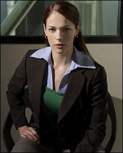 Et la belle Amanda Righetti  joue le rôle de la nouvelle recrue qui se nomme...