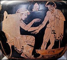 Fils d'Asclépios, il est le médecin des Grecs. C'est lui qui soigne Ménélas blessé. De qui s'agit-il ?