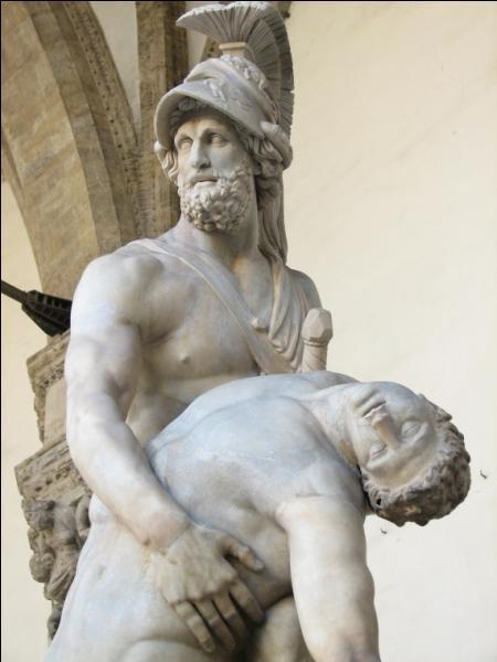 Fils d'Atrée, roi de Sparte et époux d'Hélène, il est l'un des héros grecs. De qui s'agit-il ?