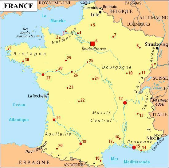 Où se trouve Angers  ?