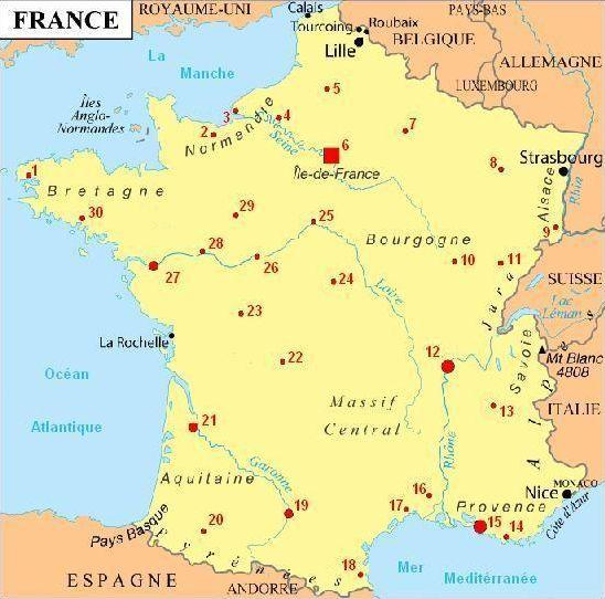 Quizz villes de France