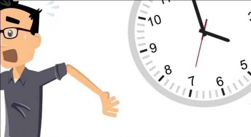 Un élève arrive en retard...