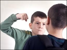 Un élève en frappe un autre, quelle est ta réaction ?