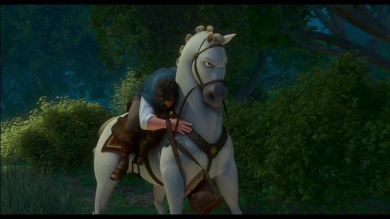 Comment s'appelle le cheval dans Raiponce?