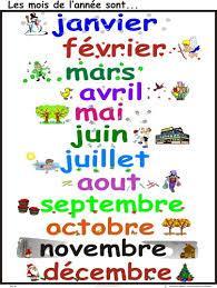 Les mois de l'année en espagnol