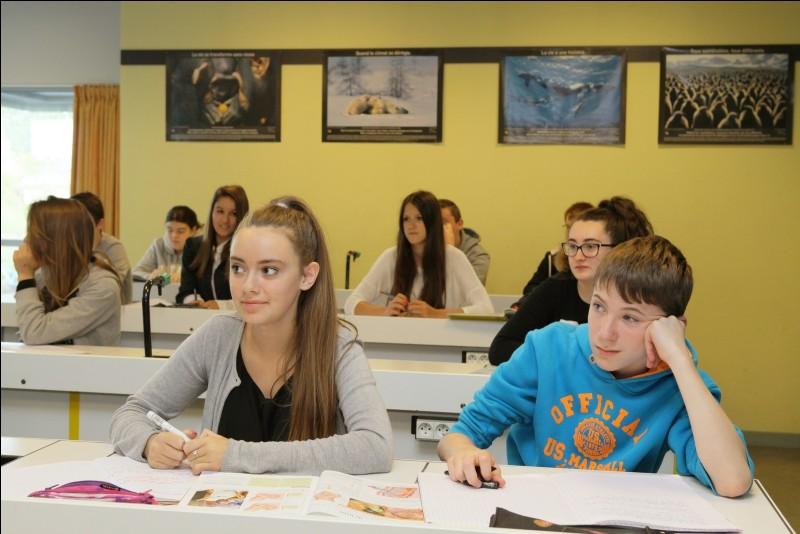 """Imagine que tu es à l'école. La professeure place les élèves et tu te retrouve à côté de """"lui"""". Comment réagis-tu ?"""