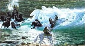Commet s'appelle la rivière où Arwen invoquent les esprits ?