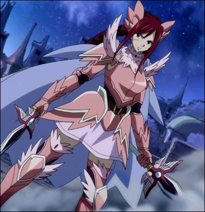 Quelle est l'armure préférée d'Erza Scarlett ?