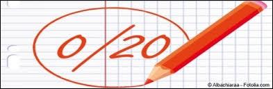 Vous venez d'avoir 0 sur 20 à votre contrôle de géographie.Quelle va être votre réaction ?