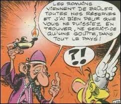 """Dans """"L'Odyssée d'Astérix"""", par quoi Panoramix le druide remplace-t-il l'huile de roche ?"""
