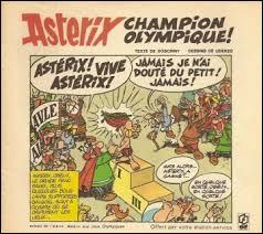 """Dans """"Astérix aux Jeux Olympiques"""", que fait Astérix de la palme d'or qu'il a gagné ?"""