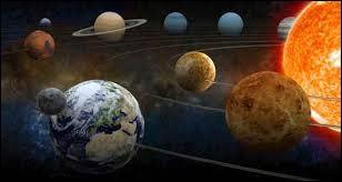 Le Système solaire est composé :