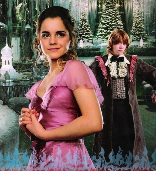 La robe d'Hermione pour le bal de Noël a requis trois mois de travail.
