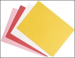 Afin d'absorber les taches d'encre que nous faisions, on nous distribuait :