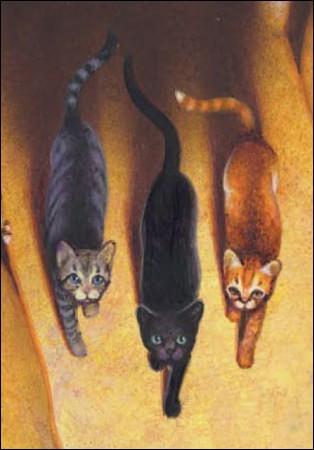 Quels sont ces trois chats ?