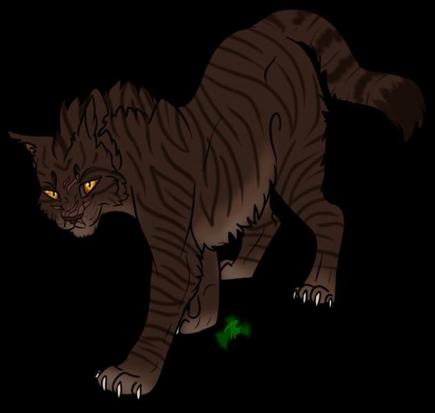 Quel est le chat de la Forêt sombre, fils de Croc Jaune ?