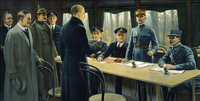 Quand l'armistice a-t-il été signé ?