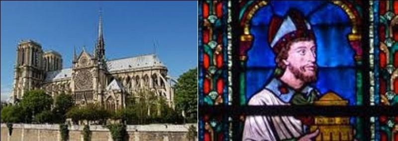 Quel évêque de Paris (né entre 1105 et 1120 et mort en 1196) fut l'initiateur de la construction de la cathédrale de style gothique Notre-Dame de Paris débutée en 1163 et terminée en 1345 ?