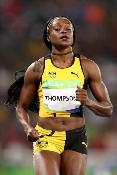 Au 100 m, c'est Elaine Thompson qui a reporté la médaille d'or. Quelle est sa nationalité ?
