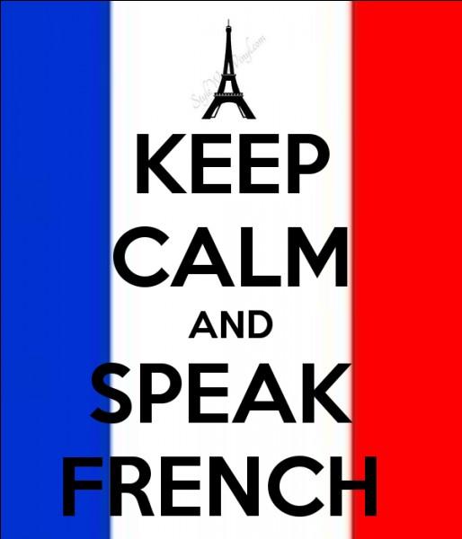 Un anglais, qui n'a jamais appris le français, connaît pourtant ... mots de notre langue sans le savoir !