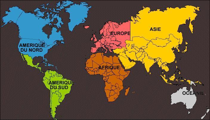 Où se situe la Normandie? Quelle est couleur de l'endroit par laquelle elle est représentée.