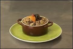Comment appelle-t-on ce petit plat allant au four, permettant de servir un hors-d'œuvre individuel ?