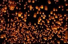Quelle était la première utilisation des lanternes volantes chinoises ?