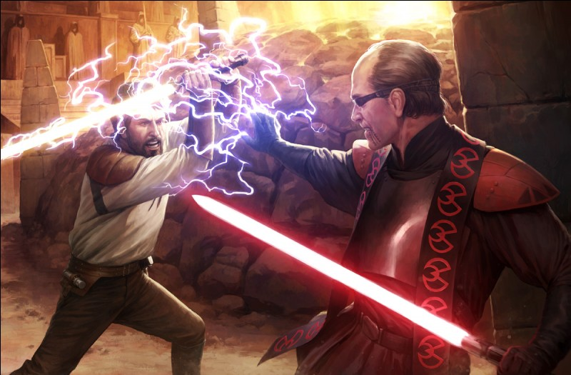 Tu tiens au bout de ton sabre un ennemi, que fais-tu ?