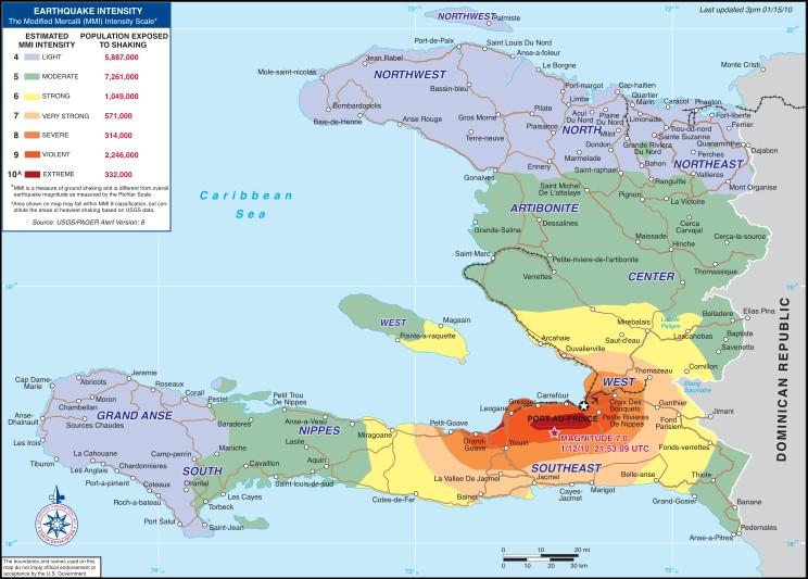 Où s'est déroulé le tremblement de terre meurtrier qui a causé 300 000 morts, 300 000 blessés et 1 000 000 de sans-abris ?