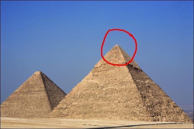 Cliquez sur l'image. Comment nomme-t-on le bout de la pyramide qui est encerclé en rouge?