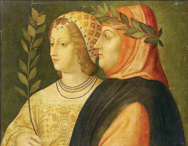 C'était le 6 avril 1327 dans l'église du couvent Sainte-Claire d'Avignon. Monsieur est lui aussi grand écrivain, madame lui inspire ses célèbres Canzionere :