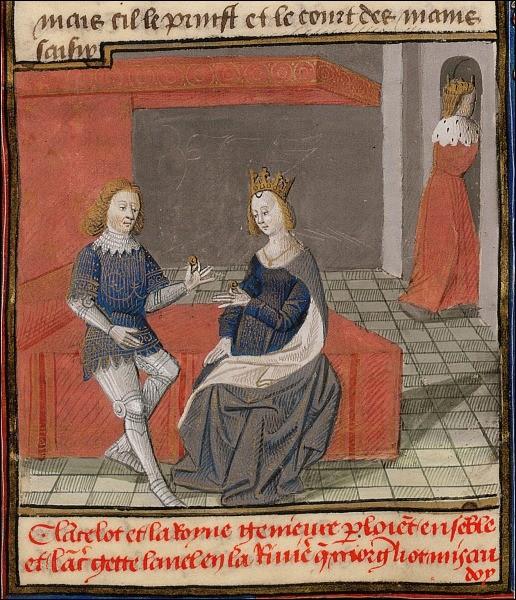 """Autre célèbre couple à l'amour interdit de la """"matière de Bretagne"""" ; il est question d'adultère..."""