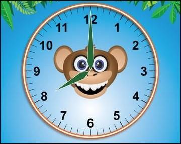 Les aiguilles n'arrêtent pas d'avancer. À quelle heure es-tu à l'école ?