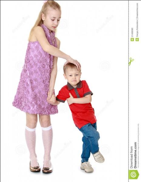 Si votre petit frère tombe et saigne. Que faites-vous ?