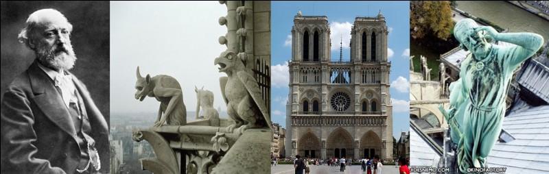 Cherchez le bien, vous le trouverez sur les toits quelque part à Paris. Il ne devrait pas y être. Il a osé se faire représenter sur ce monument !Qui est ce personnage et où est sa représentation ?