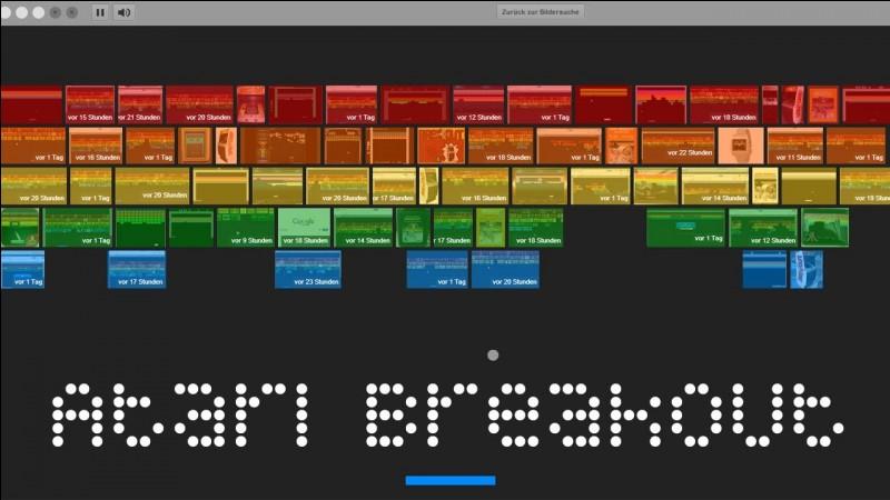 """Après avoir tapé """"Atari breakout"""" , on clique sur ------ pour jouer."""