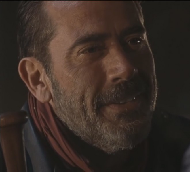 "À qui Negan adresse-t-il la parole quand il dit : ""You got a lot of our guns"" ?"