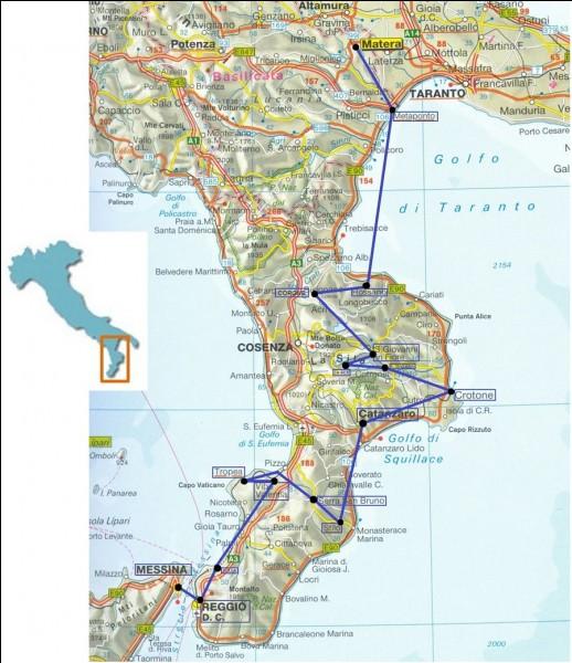 Dans quelle région d'Italie se trouve la ville de Catanzaro ?