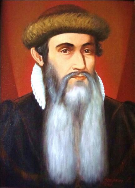 Par quel homme a été perfectionnée l'imprimerie vers 1450 ?