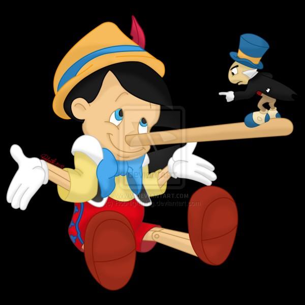 Qu'arrive-t-il au nez de Pinocchio lorsqu'il ment ?