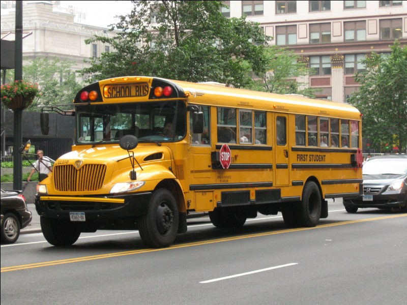 Dans un bus :