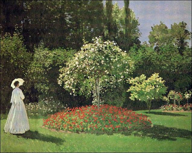 """Qui est le peintre de """"Femme au jardin"""" ?"""
