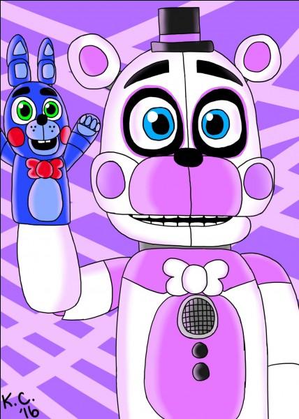 Comment s'appelle le lapin qui est sur la main droite de Funtime Freddy ?