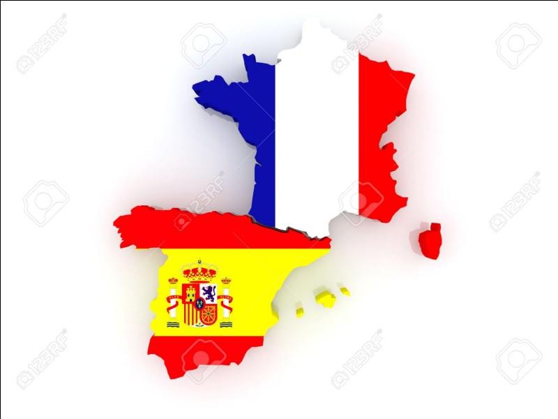 Combien de départements ont une frontière avec l'Espagne ?