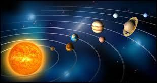 Le système solaire est un regroupement de...