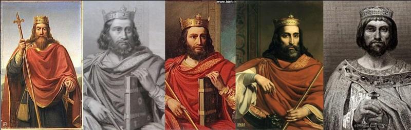 De l'an 511 à l'an 629 : En 511, Clovis meurt. Comme la « loi d'aînesse » n'existe pas, le royaume de Clovis est partagé entre ses quatre fils (Thierry, Clodomir, Childebert et Clotaire). En 558, par Clotaire Ier réunit le royaume. Il meurt en 629. Le royaume est encore divisé entre ses fils.Quelles sont les quatre villes qui deviennent capitales ?