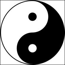 Sur l'image, c'est le Yin et le Yang. De quelle couleur le Yin est-il ?