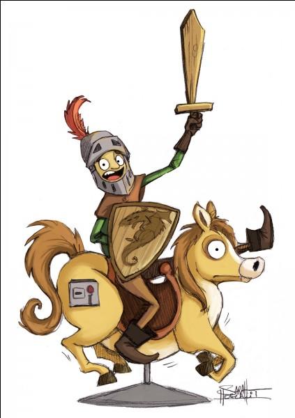 Que devient le chevalier s'il a le cul blanc ?
