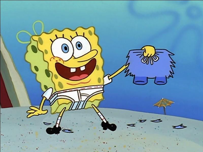 De quelle couleur la cravate de Bob l'éponge est-elle ?